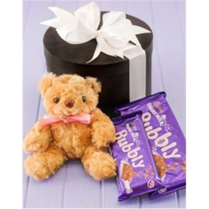 Gift Box with Teddy Bear and Chocolates H07