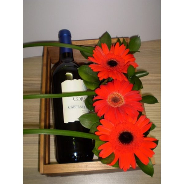 Wine & Gebera Arrangement H03